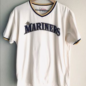 Seattle Mariners Red Jacket Tag T Shirt Size M